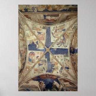 Beskåda av taket av kapell av Tinelen Poster