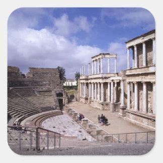 Beskåda av theatren, börjat 24 BC (fotoet) 5 Fyrkantigt Klistermärke