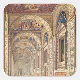 Beskåda av understödjagolvloggiaen på Vaticanen, Fyrkantigt Klistermärke