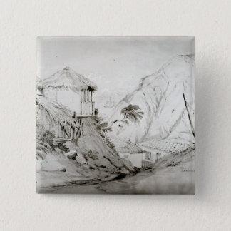 Beskåda av Valparaiso, 1834 Standard Kanpp Fyrkantig 5.1 Cm