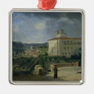 Beskåda av villan Medici, Rome, 1813 Julgransprydnad Metall