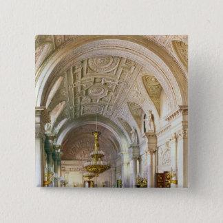 Beskåda av viten Hall i vinterslotten Standard Kanpp Fyrkantig 5.1 Cm