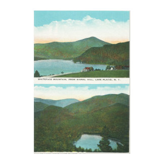 Beskåda av Whiteface Mt från signalerar backen, hj Canvastryck