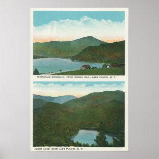 Beskåda av Whiteface Mt från signalerar backen, hj Poster