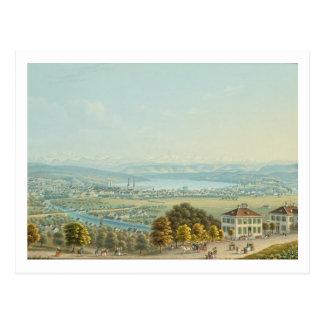 Beskåda av Zurich, c.1840 (w/c) Vykort