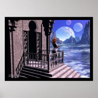 Beskåda den trefaldiga Moonseten Poster