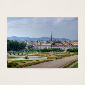 Beskåda från Belvedere över Wien Österrike Visitkort