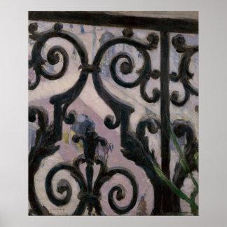 Beskåda från en balkong poster