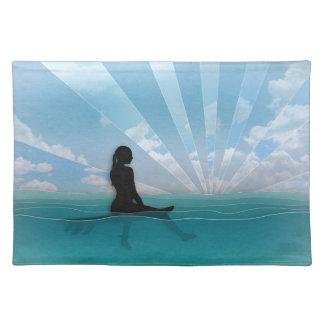 Beskåda från en surfingbräda bordstablett