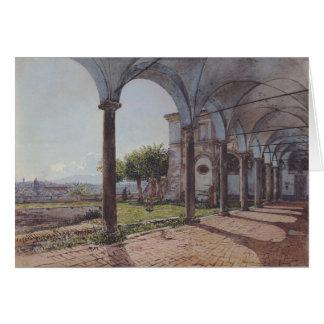Beskåda från kloster av Sant 'Onofrio i Rome Hälsningskort