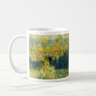 Beskåda från verandaen i Mezy av Berthe Morisot Kaffemugg