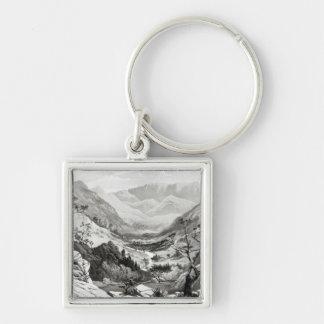 Beskåda mellan Senafe och Rahaguddy Fyrkantig Silverfärgad Nyckelring