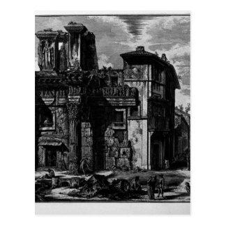 Beskåda remainsna av fora av Nerva av Giovanni Vykort