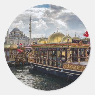 Beskåda till Istanbul (Turkiet) Runt Klistermärke