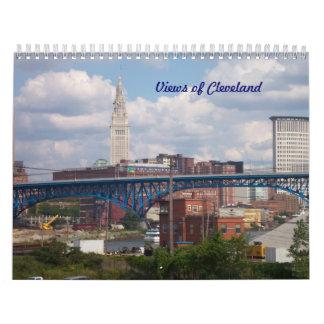 Beskådar av den Cleveland kalendern Kalender