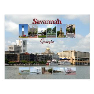 Beskådar av savannahen Georgia Vykort