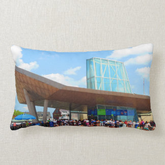 Beskådar det berömda akvariet för den Boston Prydnadskudde