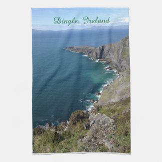 Beskådar det irländska hav för den DingleIrland Kökshandduk