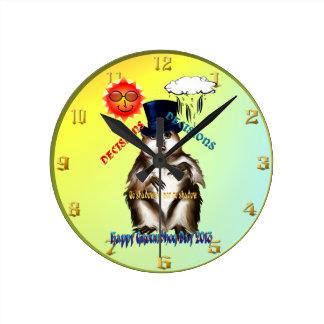 Beslut-Beslut-Groundhog dag Wallclock Rund Klocka