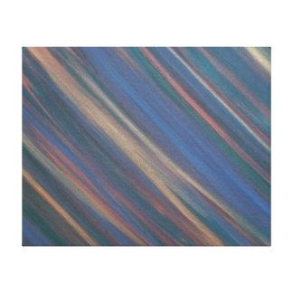 Beslutsam original- Handpainted abstrakt neutralt Canvastryck