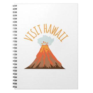 Besök Hawaii Anteckningsbok Med Spiral