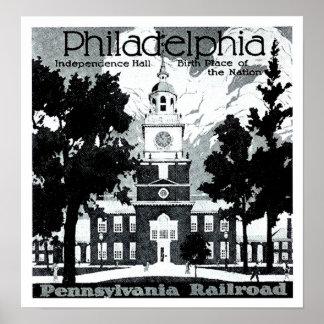 Besök Philadelphia på den Pennsylvania järnvägen Poster