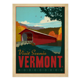 Besök sceniska Vermont Vykort