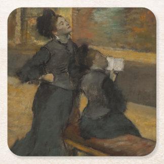 Besök till ett museum av Edgar Degas Underlägg Papper Kvadrat