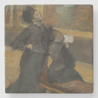 Besök till ett museum av Edgar Degas Underlägg Sten