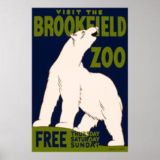 Besöka den Brookfield zooen Poster