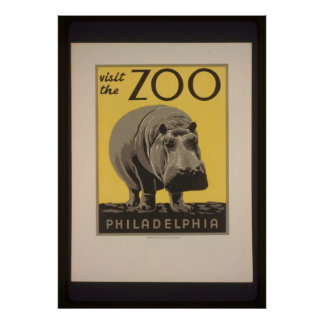 Besöka den Philadelphia Zooaffischen Poster