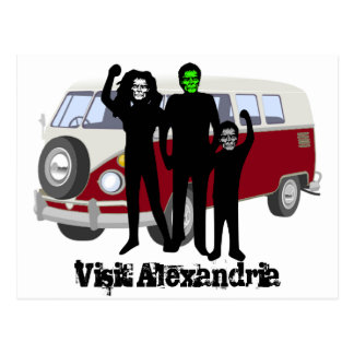 BesökAlexandria Zombie Vykort