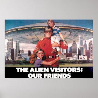 """Besökarna våra vänner 36"""" x 24"""" affisch"""