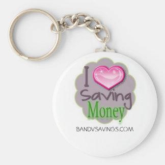 Besparingpengar Keychain Rund Nyckelring