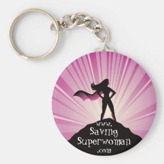 BesparingSuperwoman Keychain Rund Nyckelring