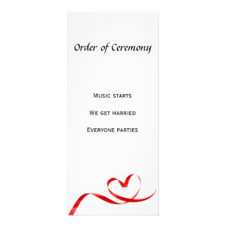 """Beställa av ceremoni 4"""" x 9"""" Rackcard Anpassade Ställkort"""