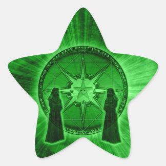 Beställa av kaos stjärnformat klistermärke
