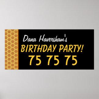 Beställnings- 75:efödelsedag eller några årsguldst poster