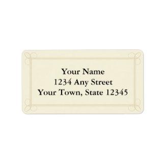 Beställnings- adressetiketter - kräm, Ecru eller