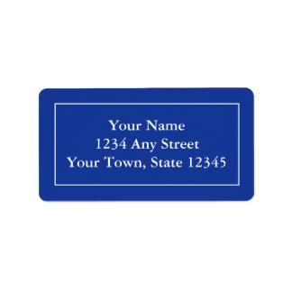 Beställnings- adressetiketter - marinblå mörk
