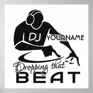 Beställnings- affisch för DJ