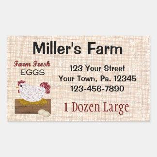 Beställnings- äggklistermärke rektangulärt klistermärke
