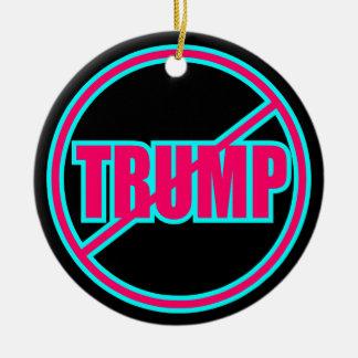 Beställnings- Anti trumf ingen demokratisk trumf Julgransprydnad Keramik