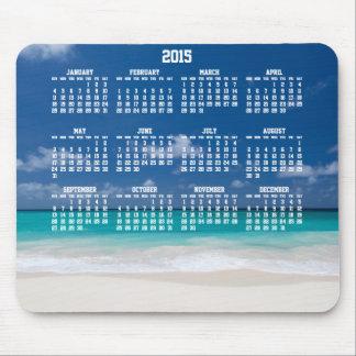 Beställnings- årlig kalenderMousepads strand 2015 Musmatta