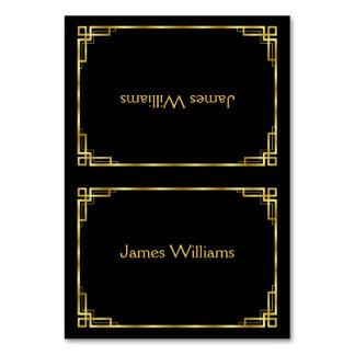Beställnings- art décosvart och guld- ställekort bordsnummer