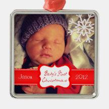 Beställnings- baby första julprydnad jul dekorationer