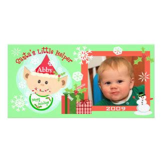 Beställnings- baby första kort för julfoto