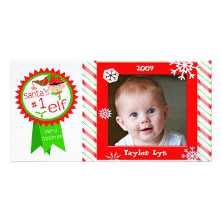 Beställnings- baby kort för julfoto fotokort