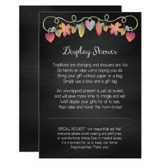 Beställnings- baby showervisningkort 8,9 x 12,7 cm inbjudningskort