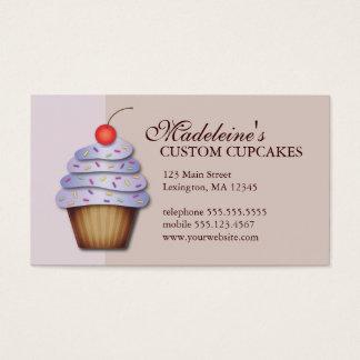 Beställnings- bagerivisitkort för rolig muffin visitkort